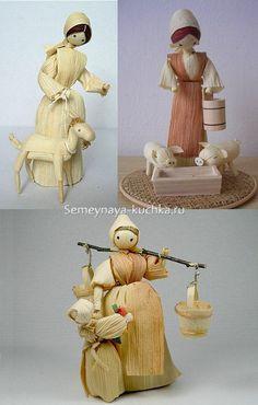 Diy Crafts Slime, Slime Craft, Diy And Crafts, Corn Husk Crafts, Corn Husk Dolls, Halloween Door Decorations, Doll Crafts, Little People, Nativity