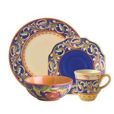 32 Piece Blue Dinnerware Set