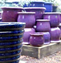 Purple Ceramic Garden Pots