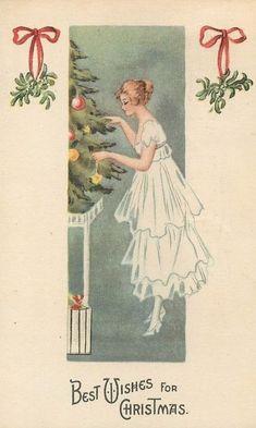 Vintage Christmas Postcard, ca. 1910s
