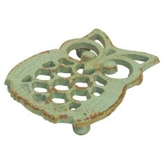 Owl Trivet in Blue