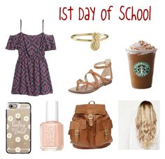 """""""1st Day of School"""" by missyt123 ❤ liked on Polyvore featuring H&M, Sam Edelman, Casetify and Essie"""