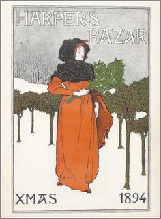 1894 Harper's Bazaar Christmas cover. Illustration by Louis J. Rhead.