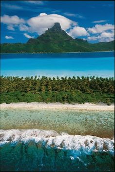 Magnificent view on Bora Bora, French Polynesia ✯ ωнιмѕу ѕαη∂у Dream Vacations, Vacation Spots, Travel Around The World, Around The Worlds, Bora Bora Island, Islas Cook, Places To Travel, Places To Visit, French Polynesia