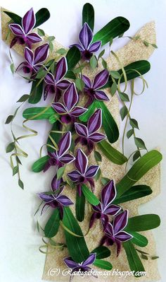 Quilled orchid flowers