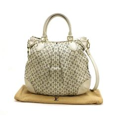 Louis Vuitton Marina PM Monogram Mini Lin Croisette Shoulder bags Ivory Cotton M95494