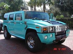 Turquoise hummer...yes please! :)