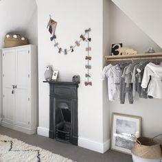 Handmade kite over victorian fireplace in neutral nursery Woman Bedroom, Girls Bedroom, Bedroom Decor, Baby Bedroom, Neutral Bedding, Nursery Neutral, Victorian Nursery, Bedroom Vintage, Bedroom Fireplace