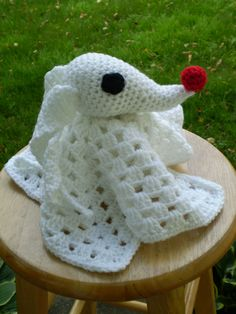 Crocheted Zero Lovey  Nightmare Before by TheStringSection on Etsy, $25.00