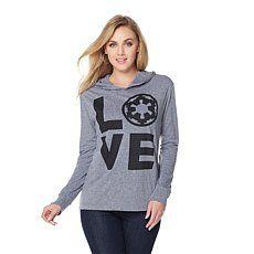 """Her Universe Star Wars """"Love"""" Imperial Logo Hoodie"""