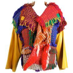 Jean Charles de Castelbajac Peruvian Patchwork Jacket at 1stdibs ❤ liked on Polyvore