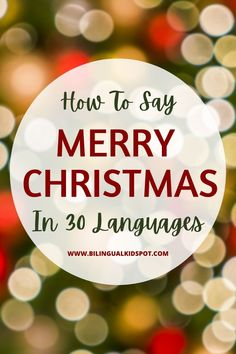 How to say Merry Christmas in 30 Languages Christmas Greetings, Merry Christmas, Different Languages, Being In The World, People Around The World, Happy New Year, Curriculum, How To Find Out, Infographic
