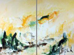 "Saatchi Art Artist: Jac Volbeda; Acrylic 2013 Painting ""Baleshare summer 2013"""