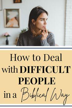 Do you have some difficult people in your life that you aren't sure how to handle? The Bible gives us tips on how to deal with difficult people in a way that is pleasing to God. #bible #relationshiptips #bibleverses Christian Women, Christian Living, Dealing With Difficult People, Christian Relationships, Marriage Relationship, Knowing God, Spiritual Growth, Word Of God, Life Lessons