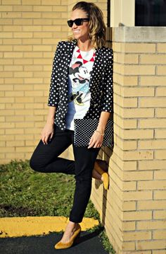 A pair of Gap pants as featured on the blog Pop of Style.