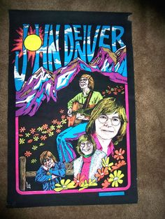 Vintage John Denver Black Light Poster - Far Out! 70s Rock And Roll, Feelin Groovy, Black Light Posters, John Denver, Hippie Peace, Music Like, All Gifts, Sweet Memories, Light Art