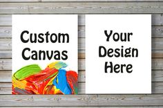 CUSTOM CANVAS- Personalized Design Text Color Quote Wall Art Canvas Set (8 in. X…
