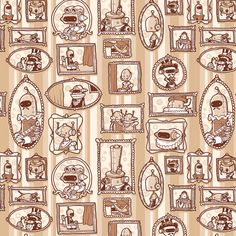 Robot Victorian fabric by kukubee on Spoonflower - custom fabric