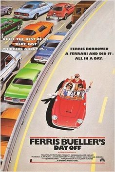 classic movie poster FERRIS BUELLER'S DAY OFF cars freeway 80's FAVE 24X36 Brand New. 24x36 inches. Will ship in a tube. - Multiple item purchases are combined the next day and get a discount for dome