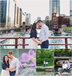 Downtown Chicago Engagement Inspiration, Lasalle Bridge, Dearborn Bridge, Chicago Riverwalk, Alfred Caldwell Lily Pond — Courtney Carolyn Photography