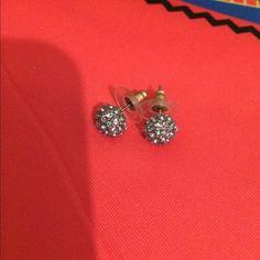 Rhinestone Icecream  scoop earrings Adorable rhinestone earrings in a sparkly ball like an Icecream scoop, for pierced ears, safety backs included from Goldfinch Boutique Jewelry Earrings