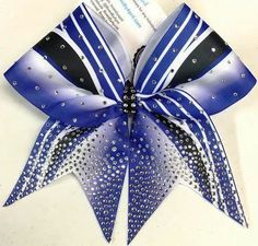 Bows by April - Kick Swish Ombre and Pin Stripes Team Cheer Bow - In Your Colors!, $15.00 (http://www.bowsbyapril.com/kick-swish-ombre-and-pin-stripes-team-cheer-bow-in-your-colors/)
