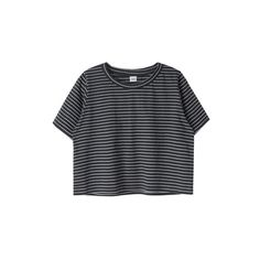 MXM컬러 스트라이프 크롭 티 ❤ liked on Polyvore featuring tops, t-shirts, shirts, crop tops, crop top, crop t shirt, tee-shirt, crop shirts and shirt crop top