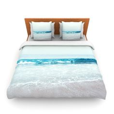 KESS InHouse Crystal Clear by Nastasia Cook Ocean Wave Featherweight Duvet Cover | AllModern