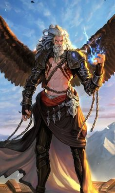20 ideas for fantasy art warrior wings Fantasy Art Angels, Fantasy Art Warrior, Fantasy Male, Dark Fantasy Art, Fantasy Artwork, Dungeons And Dragons Characters, Dnd Characters, Fantasy Characters, Fantasy Character Design