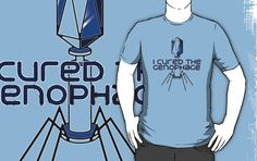 Did you cure the Krogan Genophage? I sure did. This is a bacteriophage and it's on your shirt. because you cured it. good work, you