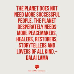 the planet needs yous
