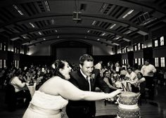 Reception at Purdue Memorial Union. Photo by Ashley Athey Photography.