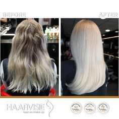 Light blonde hair colored with olaplex