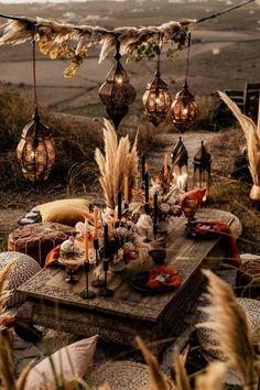 Wedding Dinner, Boho Wedding, Wedding Table, Rustic Wedding, Bohemian Wedding Decorations, Bohemian Wedding Inspiration, Bohemian Decor, Spring Wedding, Garden Wedding