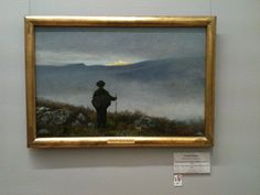 """Soria Moria by Theodore Kittlesen. When in Oslo, I came across this painting. It's an interpretation of a moment from a Norwegian fairy tale, when the protagonist crests a hill and sees the golden city, the object of his journey. It reminded me of arriving in Jerusalem, which I'd just done, days before. Scholars relate the name """"Soria Moria"""" to the Old Testament's Moriah. Moriah is the location of the Temple Mount in Jerusalem, on which the Dome of the Rock now sits."""