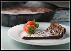 chocolate dutch baby (lowish fat, low cal)