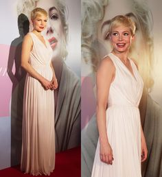 Michelle Williams at the premier of her movie in Alexander McQueen
