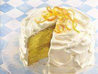 Lemon Velvet Cream Cake recipe from Betty Crocker