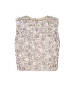 Sequin Daisy Shell Top