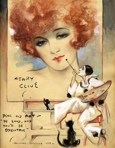 Flapper Girl Painted By Pierrot- Henry Clive