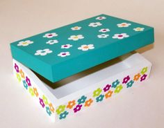 Cute easy to paint flowers for jewelry box.