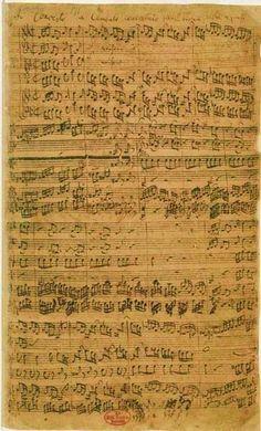 Johann Sebastian Bach sheet music: