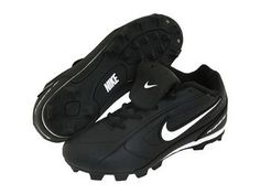 Nike Ribbie Jr Bg Black/White Baseball Cleats 12c >>> See this great image @ http://www.amazon.com/gp/product/B004J60A3I/?tag=lizloveshoes-20&jk=260716051929