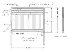 corrugated fence design - thanks for this Savie!