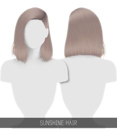 [Simpliciaty] — SUNSHINE HAIR 36 swatches; HQ mod compatible; ...