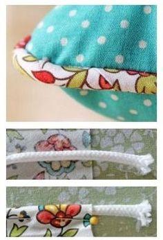 Fica aqui a explicação de como aplicar um cordão na beira de uma almofada.         Para nos ajudar a costurar o cordão dentro do tecido esco...