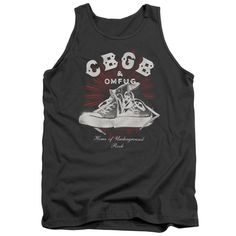 Cbgb/High Tops Adult Tank in Charcoal