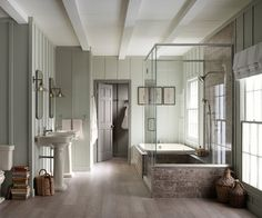 Master bath, floors and well color