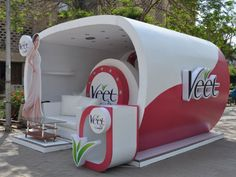 Veet Booth Display 3 25 Innovative 3D Exhibition Designs, Display Stands & Booth Collection