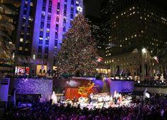 Rockefeller Center at Christmas time